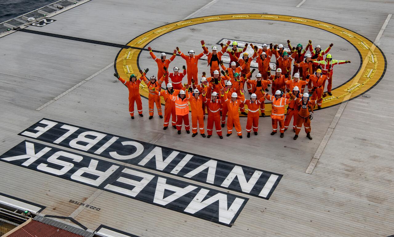 Allianseteamet på Maersk Invincible har levert svært bra i den siste kampanjen.  (Foto: Øyvind Sætre/Maersk Drilling)